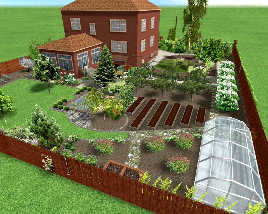 дизайн садового участка 10 соток фото 7