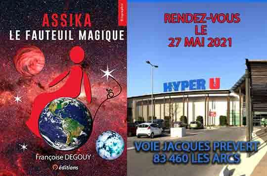 Séance dédicaces Françoise Degouy 27 mai 2021