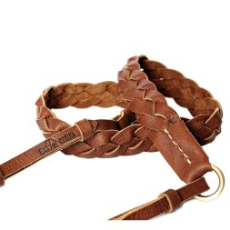 Camera strap-leather-weave-3