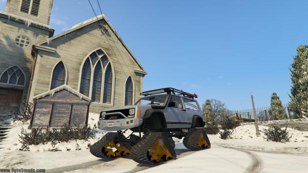 Jeep Cherokee XJ SnowHawk Edition - GTA V - 9gta5mods com
