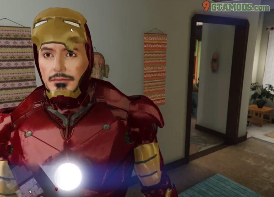 Re-Texture face Iron Man V1 - 1