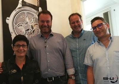 Claudia, Bart, Tim et Christophe