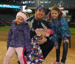 Kelly Byrnes and family at Safeco