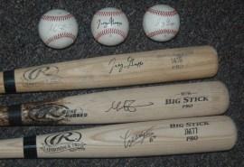 Mike Zunino, Joey Gallo and Jesus Montero Autographs