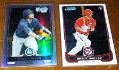 Mike Zunino and Bryce Harper Cards