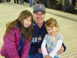 With two of my nieces at a Mariners Fan Fest.