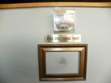 Pressbox foulball plaque