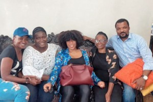 Rita Dominic Pictured With The Family Of Late Ibidunni Ighodalo