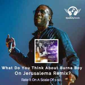 What Do You Think About Burna Boy On Jerusalema Remix?