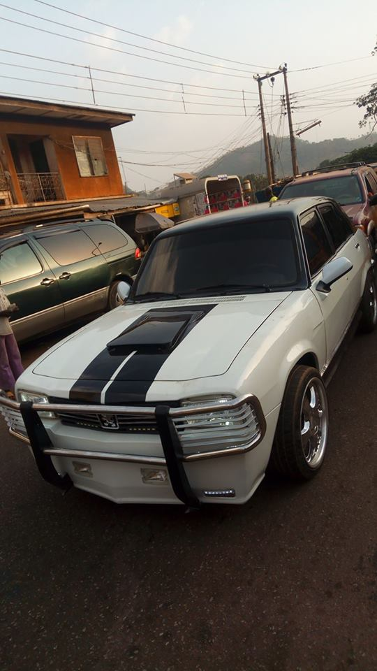 Man-Redesigns-An-Abandoned-Peugeot-504-In-Enugu6-1 Tech News Uncategorized  See What An Auto Designer Did With An Abandoned Peugeot 504 In Enugu (Photos)