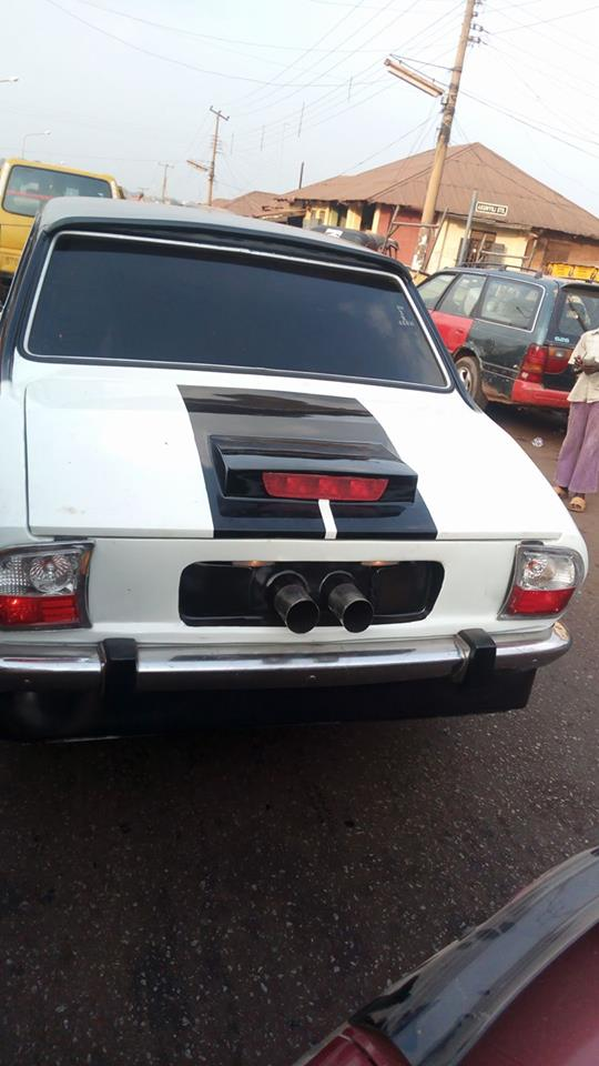 Man-Redesigns-An-Abandoned-Peugeot-504-In-Enugu7 Tech News Uncategorized  See What An Auto Designer Did With An Abandoned Peugeot 504 In Enugu (Photos)