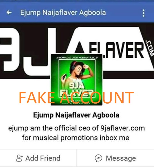 Their Are Some People Impersonating The Owner Of 9jaflaver On