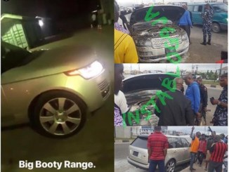 Burna Boy's Range Rover Autobiography Caught Fire Along Lekki-Epe Expressway