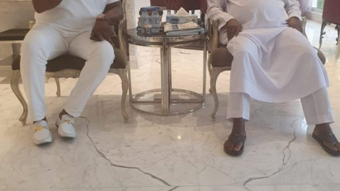 Senator Dino Melaye Spotted Chilling With Atiku (Photos)
