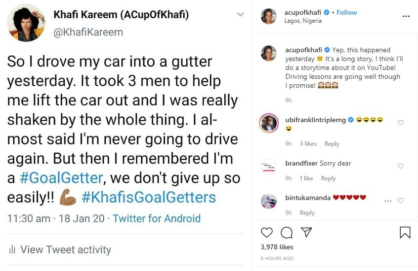 BBNaija's Khafi Involved In A Car Accident