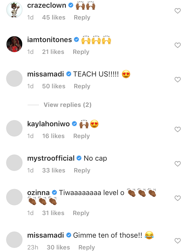 Tiwa Savage: 'I Don't Check Price Tags No More'. Celebrities React