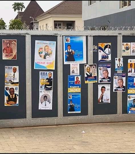 Abuja Pupils Print Banners To Vie For Head Boy, Head Girl (Photos)