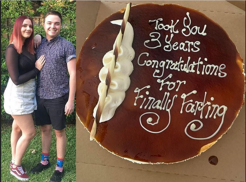 Man Gifts Girlfriend Of Three Years A Congratulatory Cake After She Finally Farts In Front Of Him 2