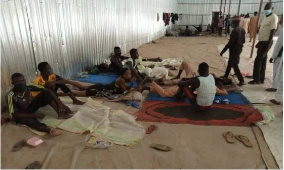 COVID-19: Drama As Nigeria Police Rescue Over 600 Workers Locked Up For Three Months In Rice Factory 1