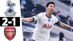 Watch Goals Highlight:- Tottenham 2 Vs 1 Arsenal 2
