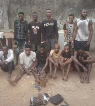 11 Notorious Cultists Terrorizing Residents of Lagos Caught by Police (Photo)