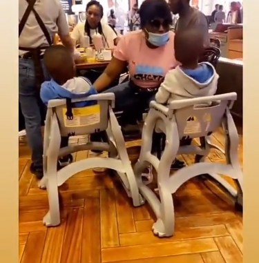Funke Akindele Spotted Having Fun With Her Sons In Dubai (Video)
