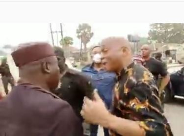 """Can You Stop That Nonsense"" – Rochas Okorocha Tells Governor Hope Uzodinma's Aide Following Arrest (Video)"