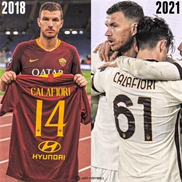 Dzeko Dedicated Goal To Calafiori
