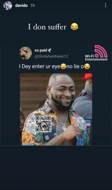 """""""I Don Suffer"""" – Davido Reacts to His Photo Being Used for A Funny Meme"""