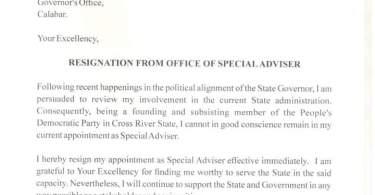 Mark Obi Resigns As Governor Ayade's Special Adviser On SDGs
