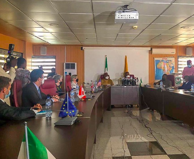 Twitter Ban: Photos From Fg's Meeting With US, Canada, UK Envoys In Abuja
