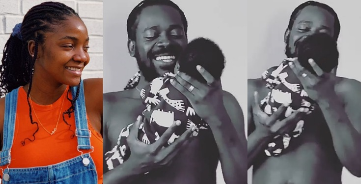 Simi shares adorable video of her hubby singing to their baby, Adejare