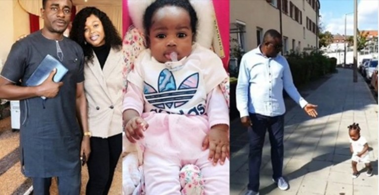 'Never knew babies can walk at 8 months' – Actor, Emeka Ike praises daughter, Oluchi (Video)