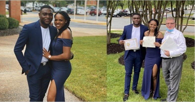 Sweet Love! Nigerian man weds lady he met while selling oranges as a child (Photos)