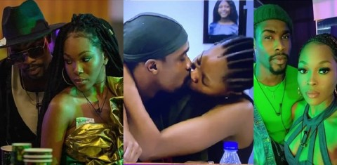 #BBNaija: Watch The Moment Neo And Vee Kissed After Making It To The Grand Finale (Video)