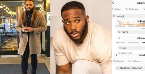 #BBNaija: Kiddwaya Unfollows Neo And Vee After He Unfollowed Nengi And Dorathy For Calling Him Dirty