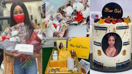 #BBNaija: fans and allies of Erica welcomes her in Abuja with lots of gifts (Photos/Videos)