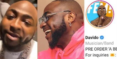 """""""I literally begged a guy for 10 years to free this name for me"""" – Davido celebrates getting his correct username on IG after 10 years of begging"""