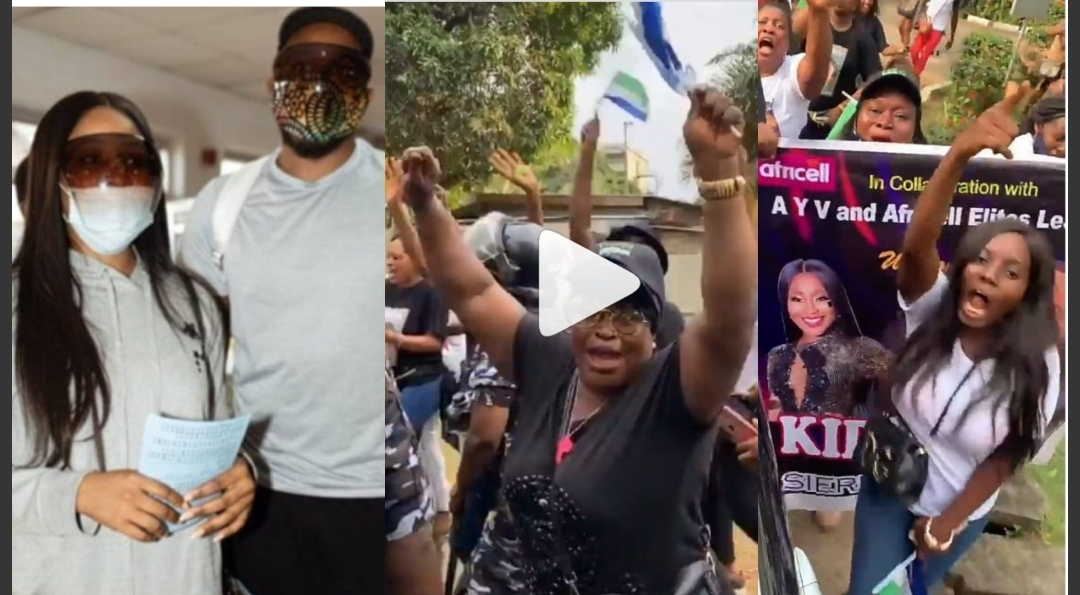 Watch and See How Sierra Leone Fans Welcomed BBNaija Kiddwaya And Erica With Hilarious Song (Photos+video)