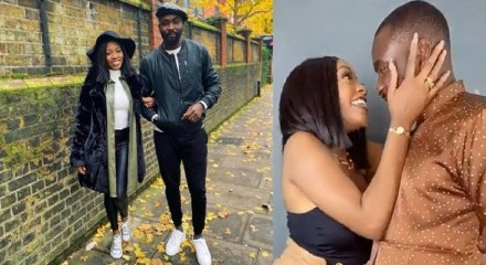 Khafi excited as she lands in London with lover, Gedoni, ahead of her birthday (Photos)