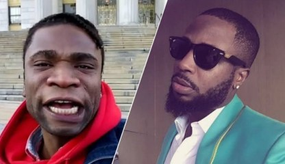 Tunde Ednut is a content thief, yet lives in a penthouse while I live in ghetto – Speed Darlington laments (Video)