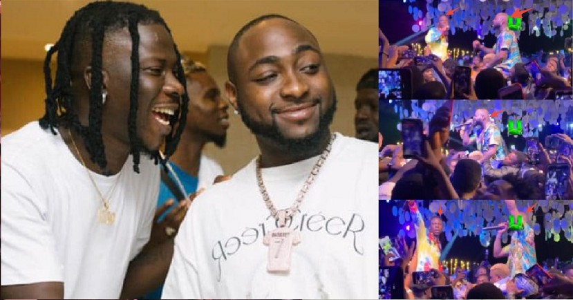 """""""Thunder Fire Poverty"""" – Fans React As Davido, Stonebwoy Sat On The Neck Of Their Bodyguards While Performing (VIDEO)"""