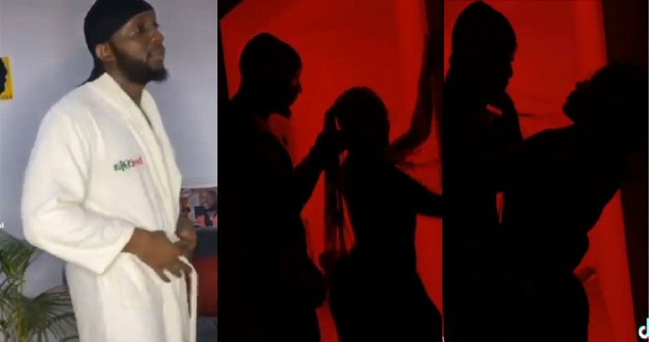 BBNaija's Tuoyo Exposes His Cucumber As He Joins #Silhouettechallenge with a N*de Lady (VIDEO)