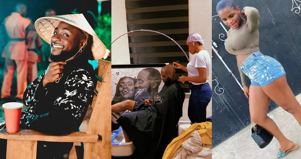 Meet Princess, Davido's Beautiful And Curvy Barber that Causes Commotion Online [Photos]