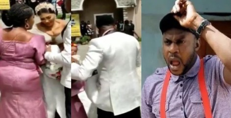 Gbas Gbos! Bride In Tears After Pastor Refused To Officiate Wedding Because They Were 5 Minutes Late (Video)
