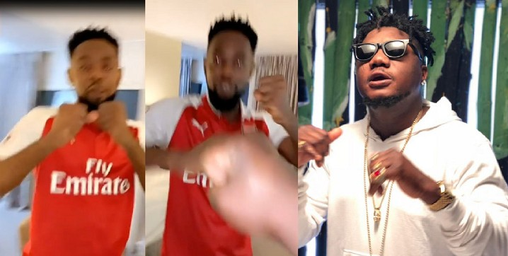 Gbas Gbos! Patoranking Exhange Blows With Rapper CDQ Olowo [Video]