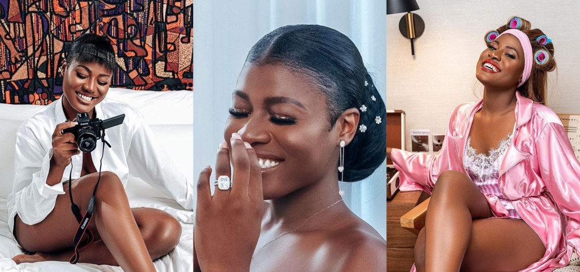 Alex Asogwa causes Commotion on social media as she Flaunts her Engagement Ring (Photos)