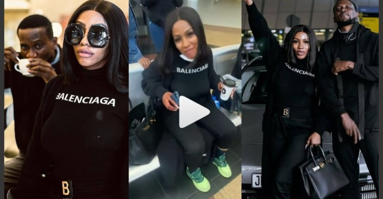 It Is About To Be Lit' - BBNaija Omashola Says As He Hooks Up With Mercy Eke As She Arrives South Africa
