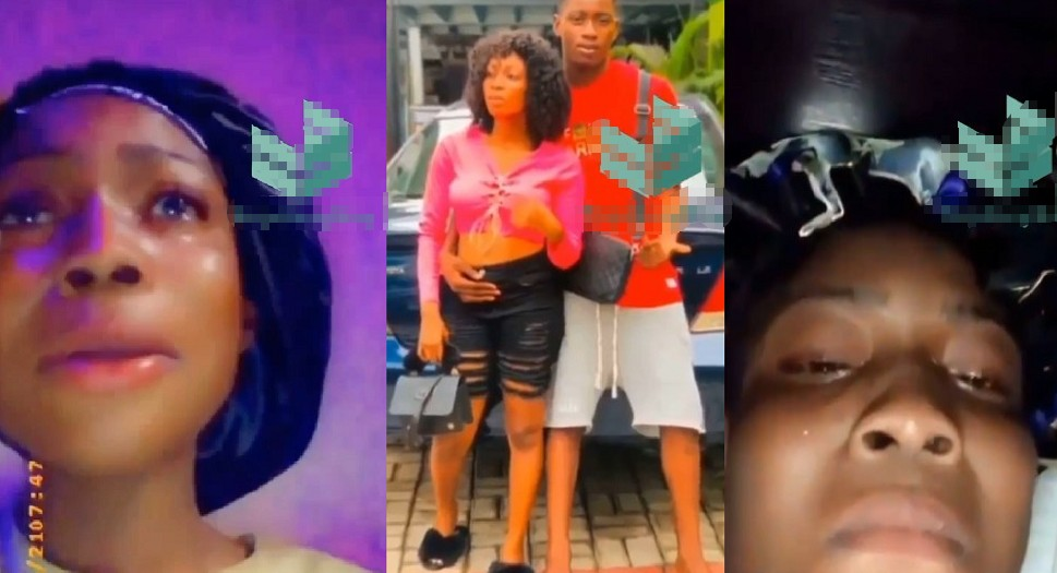 Lady Cries Uncontrollably after the Love of Her Life Broke up with Her (Video)