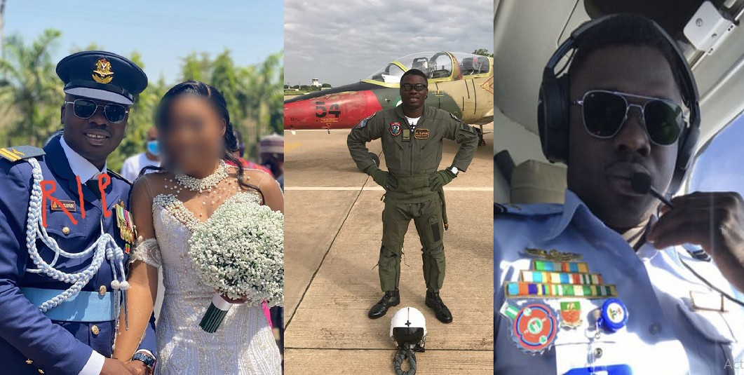 Friends mourn newly married NAF pilot who died in a plane crash with Chief of Army Staff [Photos]